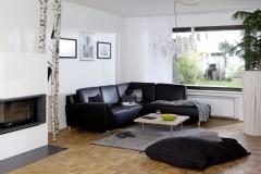 Teba Lamellenvorhang Wohnzimmer weiß quadrat 3191 offen  Stimmungsbild