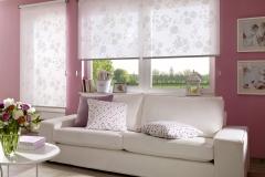 Gemusterete Teba Rollos verschönern ein jedes Zimmer.Teba Rollo 1026 weiß gemustert, S2-AnlageStimmungsbil