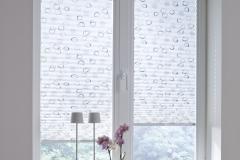 Teba Plissee 5365 grau-braun FenstersituationÜbernahme in Kollektion 2016
