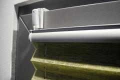 Plissee 5502 VS2 Falzklemmträger Montage auf Glasleiste 4