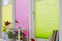 Teba Wabenplissee 5811-gelb 5812-pink 5810-grün VS2 Shooting frische-Farben (2)