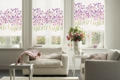 Gemusterete Teba Rollos verschönern ein jedes Zimmer.Stoff: 1025 mit Blumenmuster Stimmungsaufnahme