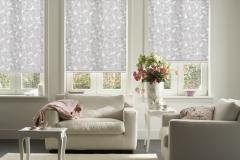 Gemusterete Teba Rollos verschönern ein jedes Zimmer.Stimmungsaufnahme 1071 grau-gemustert